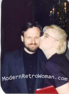 The Mister and me at my graduation for my master's degree in Educational Psychology, in 1995.