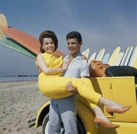 Annette Funicello and Frankie Avalon.