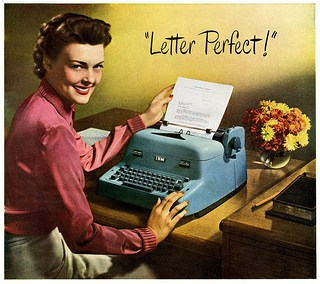 IBM Electric Typewriter advertisement, 1950; Image courtesy of Paul Malon on Flickr.com