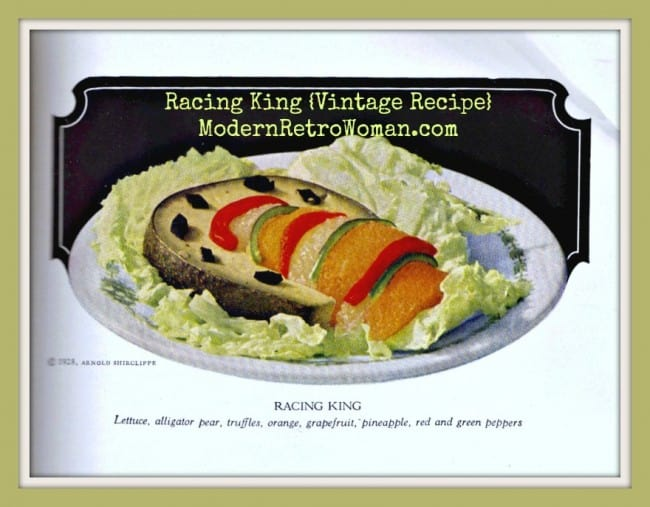 Racing King Vintage Recipe ModernRetroWoman.com