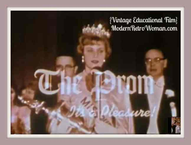 The Prom 1961 Educational Film ModernRetroWoman