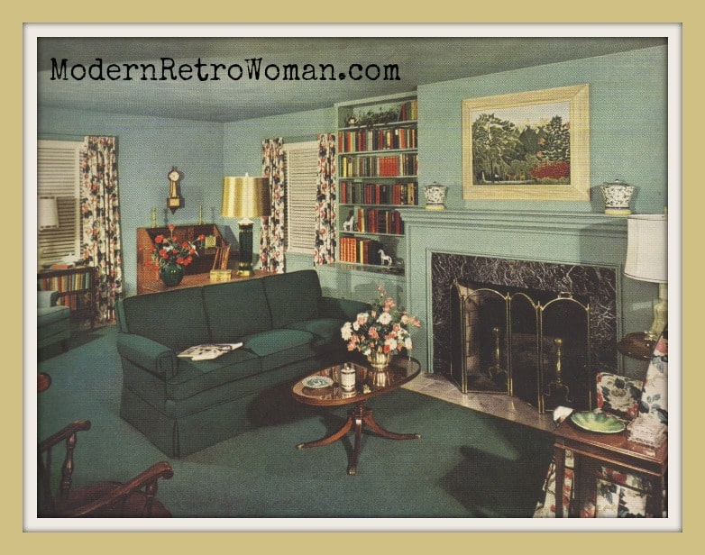 Contemporary American decor from Ladies' Home Journal Book of Interior Decoration by Elizabeth T. Halsey, 1954.