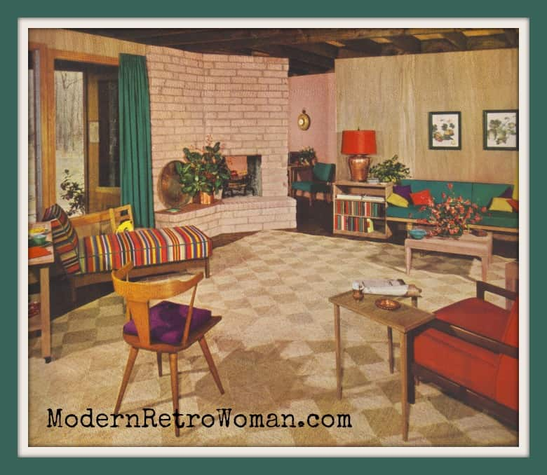 """""""Modern Dream Come True"""" from Ladies' Home Journal Book of Interier Decoration by Elizabeth T. Halsey, 1954."""