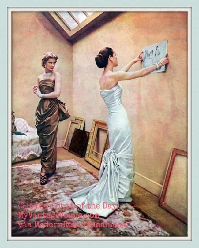 "Modess ""Because"" advertisement, c. 1950s; Image courtesy of MyVintageVogue.com via MJ Basala on Pinterest"