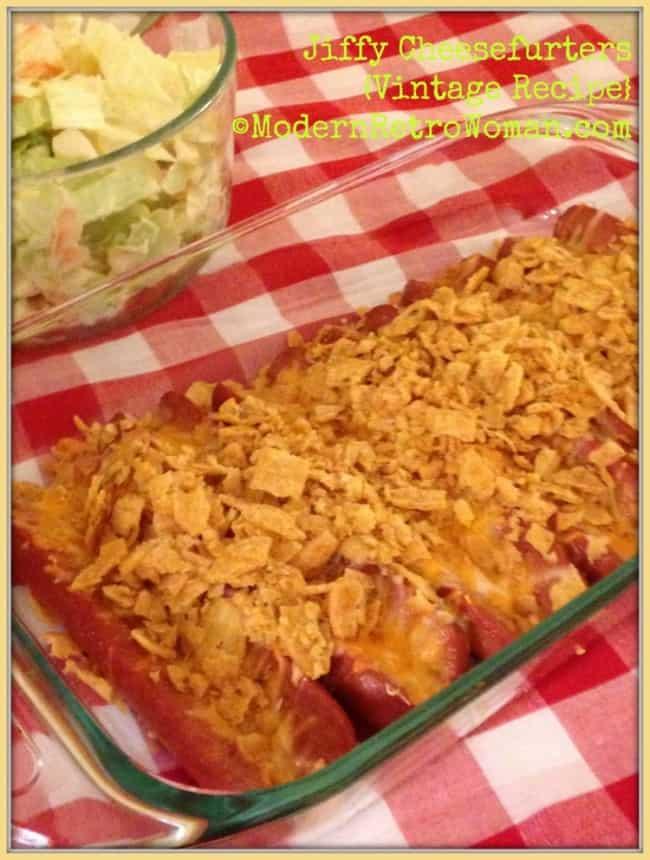Jiffy Cheesefurters { Vintage Recipe } ©ModernRetroWoman.com