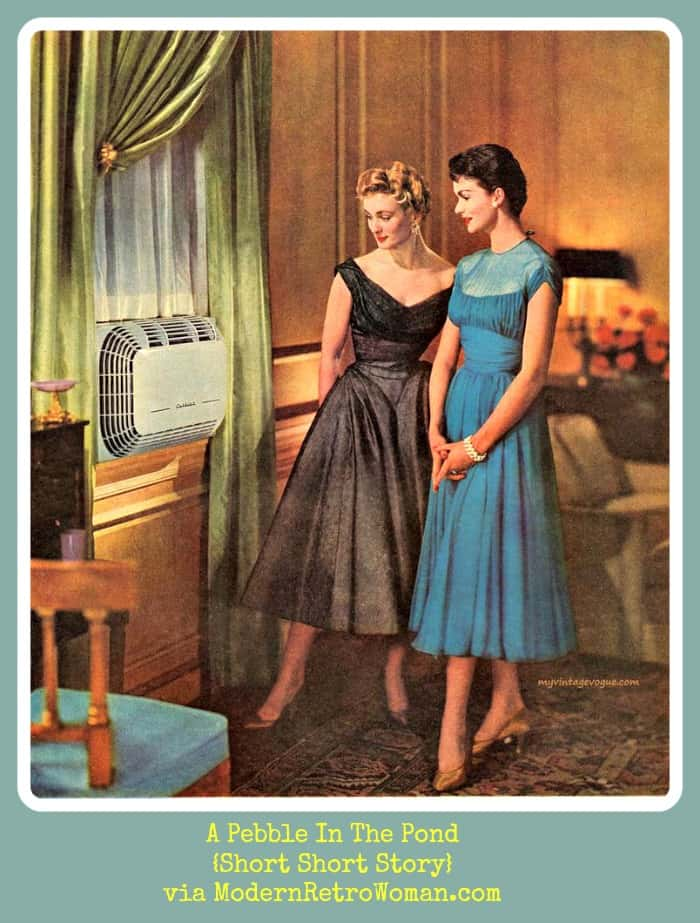Carrier air conditioning advertisement, 1954; Image courtesy of MyVintageVogue via Pinterest