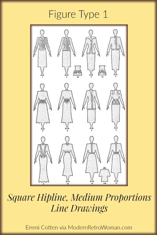 Clothes-make-magic-figure-type-1-line-drawing-modernretrowoman.com