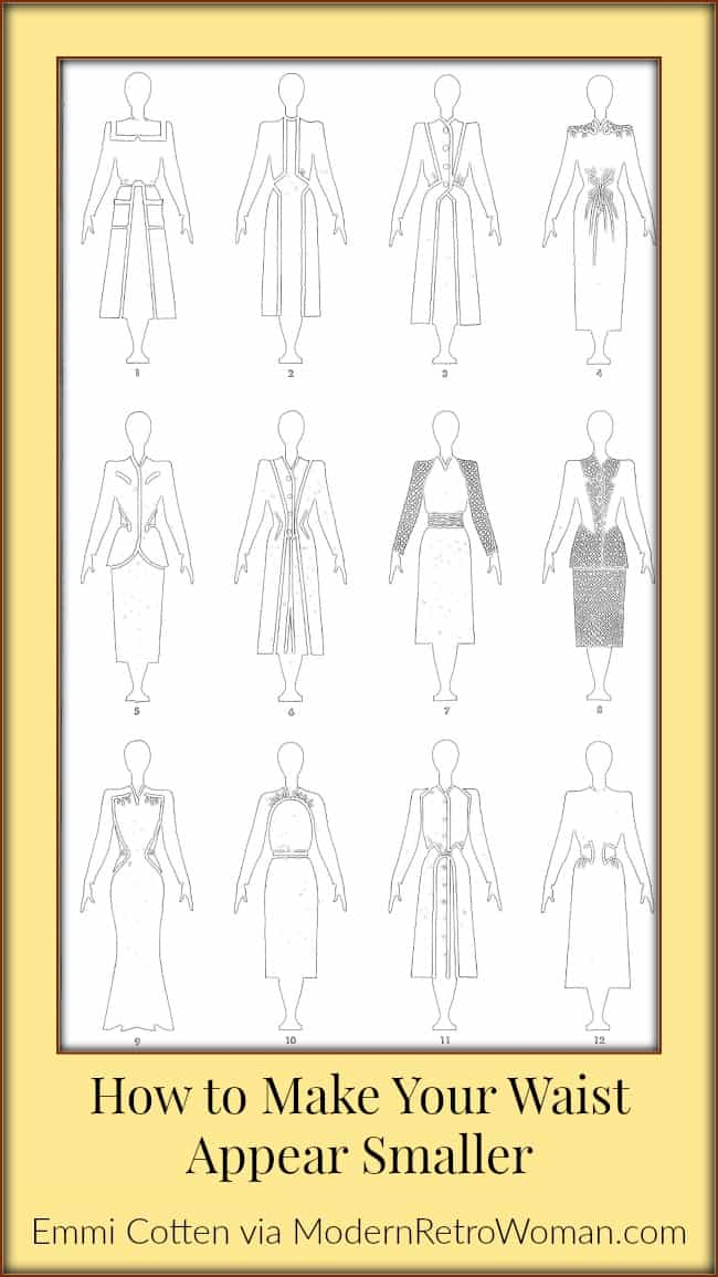 How to Make Your Waist Appear Smaller Figure Outlines-Clothes Make Magic Figure 4-ModernRetroWoman.com