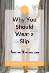 Image a woman wearing a slip for the ModernRetroWoman.com blog post 3 Beautiful Reasons You Should Wear a Slip.