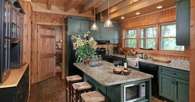 kitchen's wide galley design