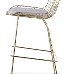 Century Furniture Sofa Quality Design With Wooden Handle Bertoia Wire Counter Stool In Gold Finish - Bar & ...