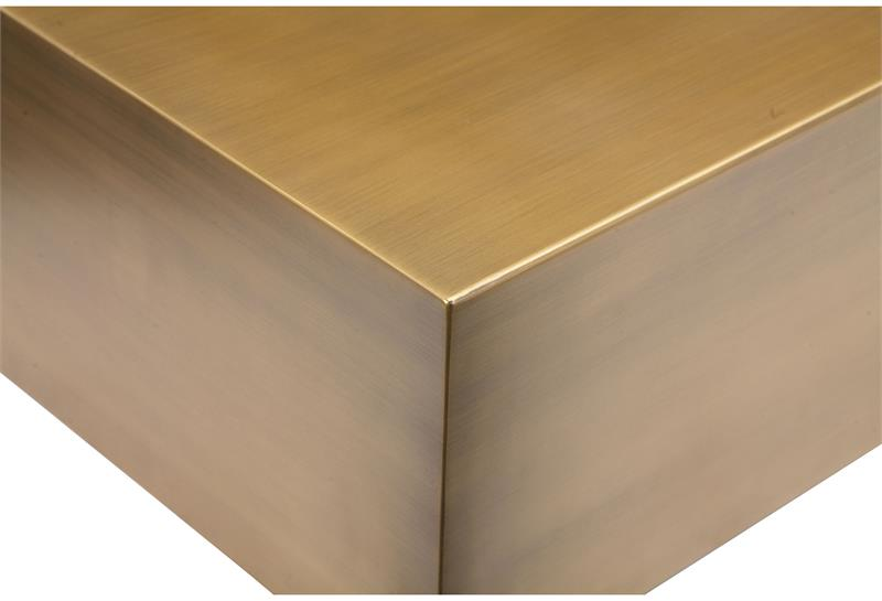 Cube Coffee Table In Brushed Brass