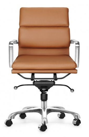 zuo swivel chair teak table and chairs director soft padded office - home furniture