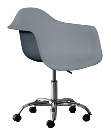 Molded Plastic Eiffel Bucket Seat Office Chair