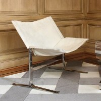 Rocha Black Cowhide Armchair or White Cowhide - Mid ...
