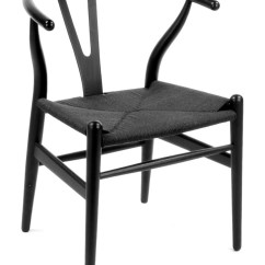 Dark Walnut Dining Chairs Seating Area Wishbone Chair Ch24 By Hans Wegner - Free Shipping
