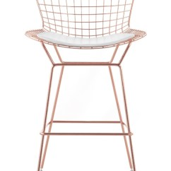 Red Living Room Furniture Sets Paint Ideas For With Wood Trim Bertoia Wire Counter Stool In Rose Gold Finish - Bar ...
