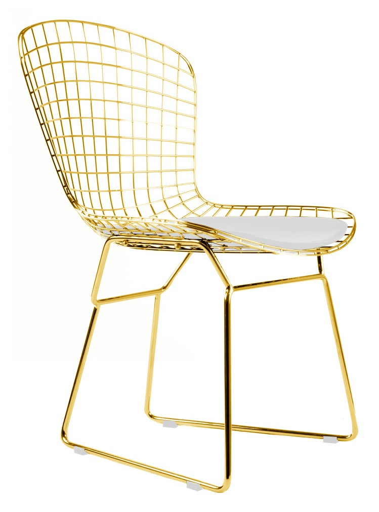 gray chair side table gaming computer chairs bertoia wire in gold finish - home and office furniture free shipping