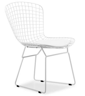 bertoia side chair folding covers on ebay white frame free shipping modernselections com