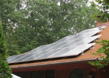 Modern Solar Rooftop Installation