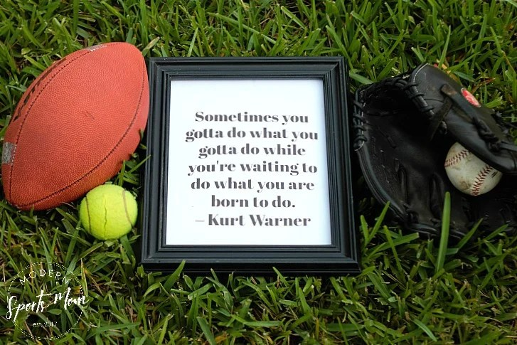 6 Inspirational Printables for Sports Families - great for gallery walls, lunch box notes or just a little encouragement for your athletes!