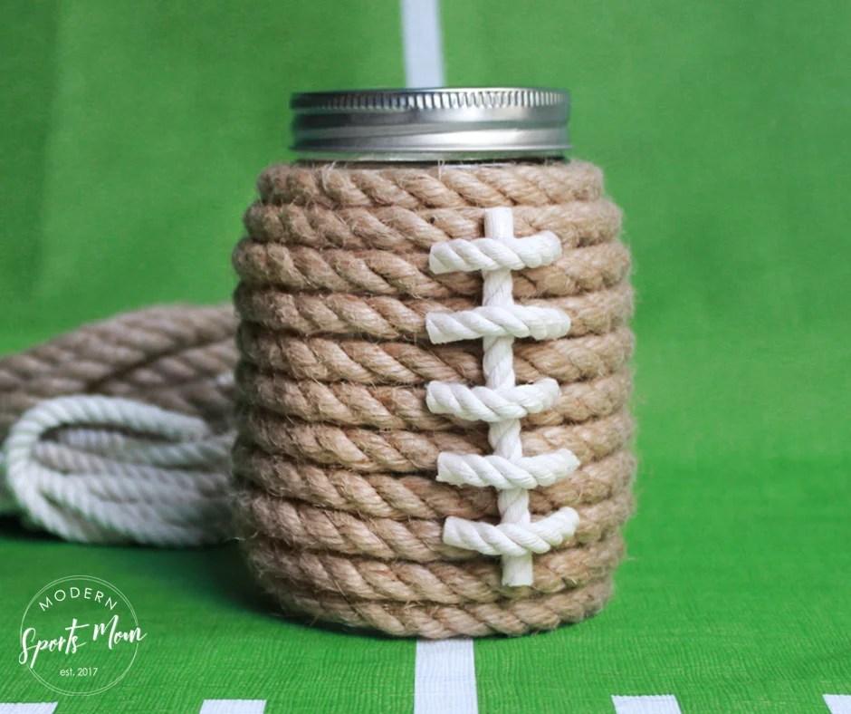DIY Football Mason Jars