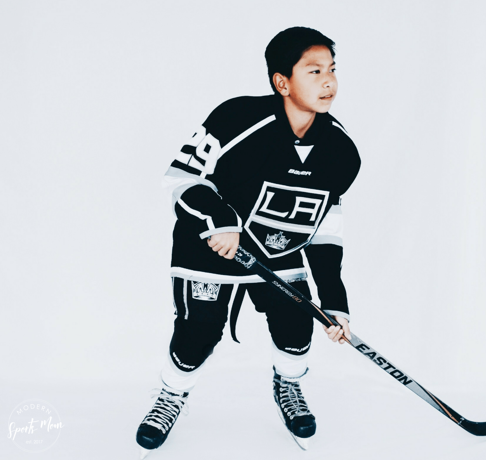 Youth hockey player.