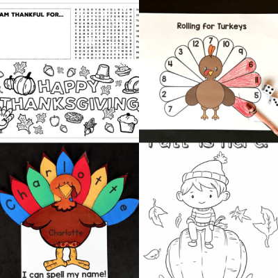 30+ Free Thanksgiving Printables for Kids