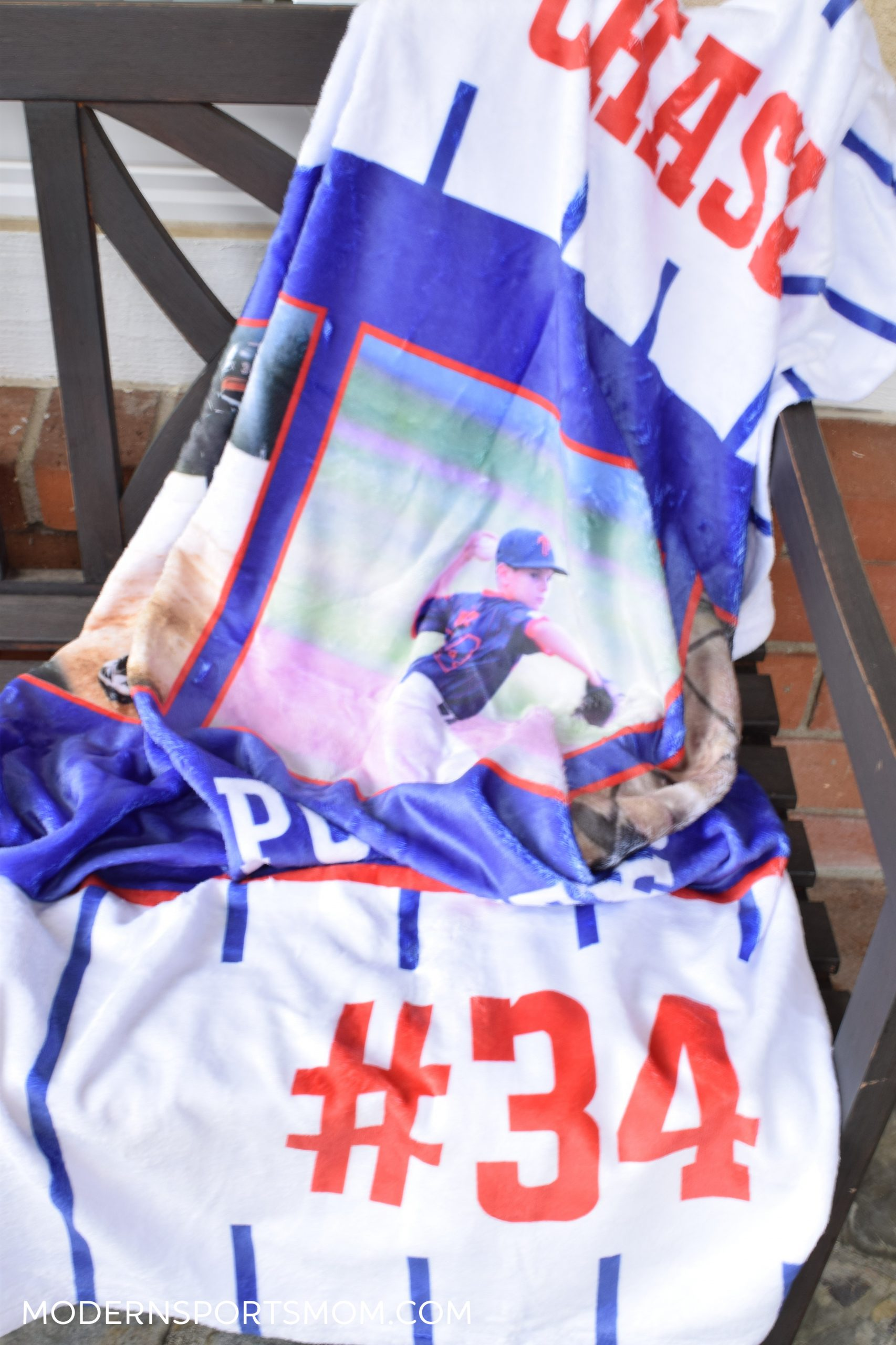 Show off your athletes by creating a fun personalized blanket with FOTO Vision!