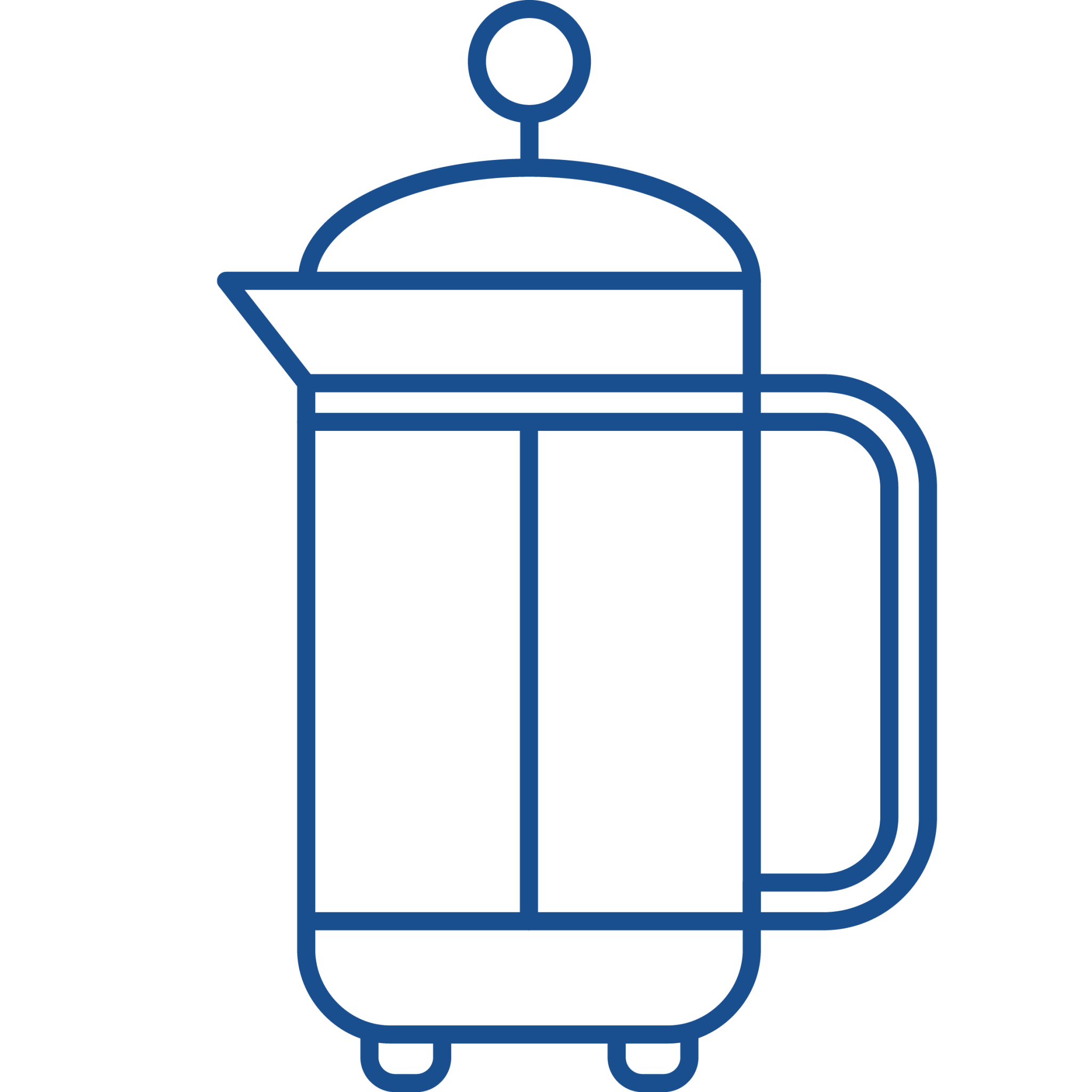 Cafetiere icon modern standard coffee