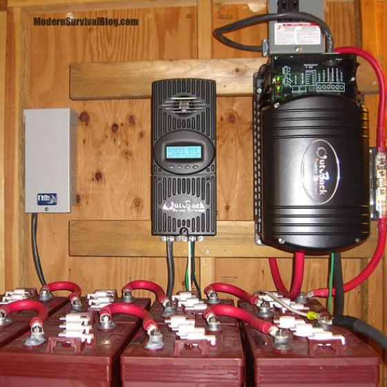 off-grid-solar-controller-batteries-inverter
