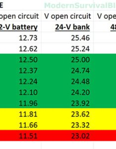 Battery state of charge also chart for voltage  specific gravity rh modernsurvivalblog