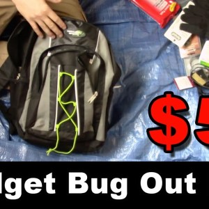 $50 Budget Bugout Bag - Bugout Bag Basics on a Budget