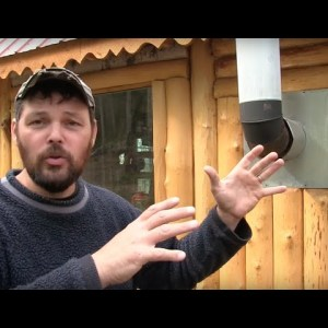 "Alaska ""Off Grid"" Log Cabin ....why I built with vertical logs"