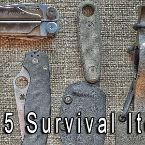 Top 5 Survival Items for Your Bugout Bag or Survival Kit