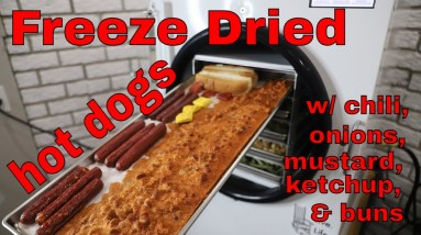 FREEZE DRYING an ENTIRE 🌭 HOT DOG 🌭 -- Harvestright Freeze Dryer