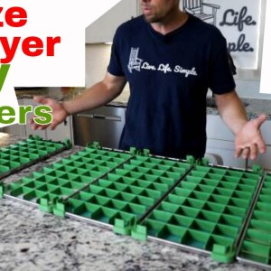 Freeze Dryer Tray Dividers -- Consistent Freeze Dried Food Portions