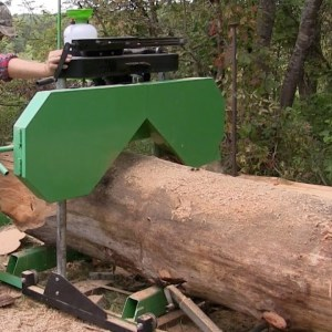 Harbor Freight Sawmill Review  ....HUGE LOGS !!!