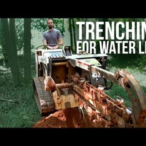 Trenching for Water Lines | Forest to Farm