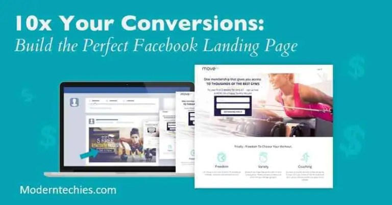 modern techies social media marketing creating landing pages