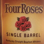 4 roses SB label close