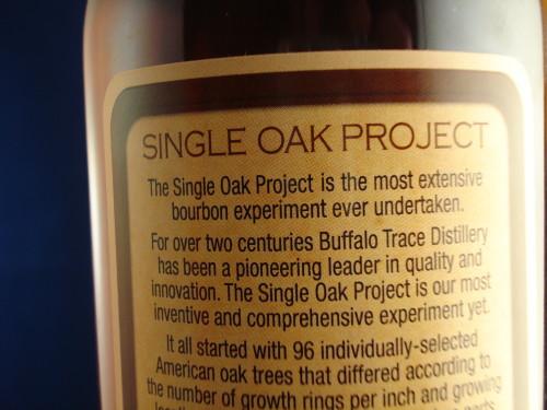 Buffalo Trace Single Oak 175rear label