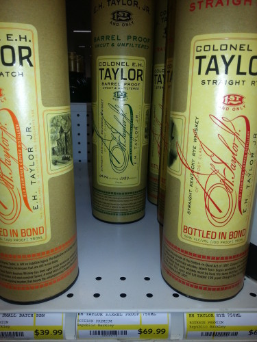 EHT Barrel Proof on shelf