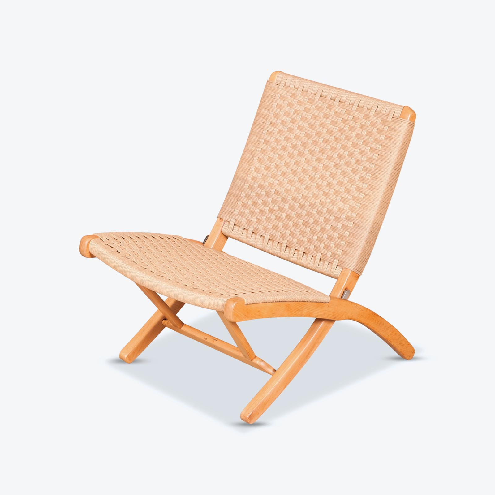 Japanese Chair Japanese Folding Chair In The Style Of Hans Wegner With New Papercord 1960s Japan