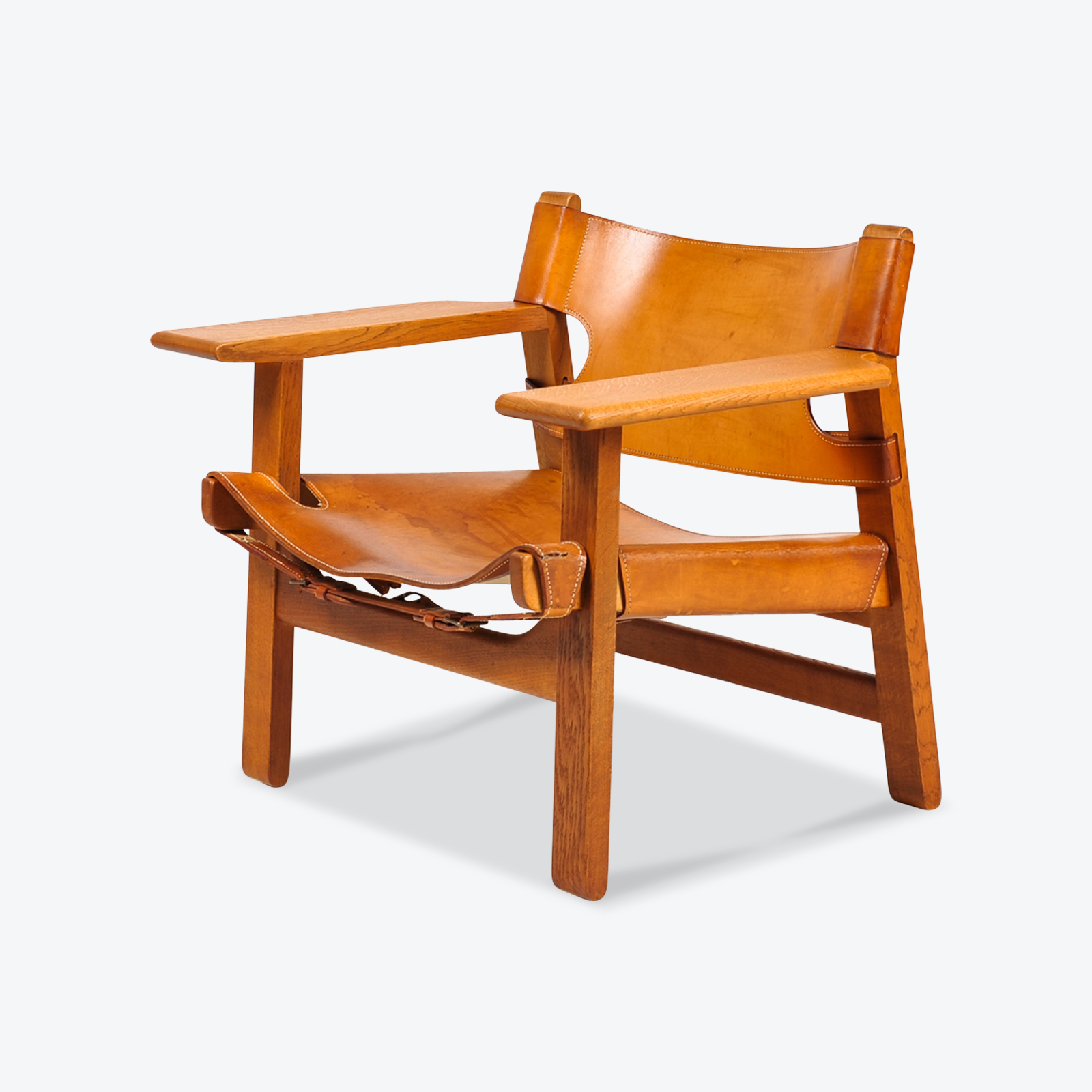 Chair In Spanish Spanish Chair By Borge Mogensen For Fredericia In Tan Leather 1950s Denmark
