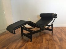 Sold - Le Corbusier Lc4 Leather Chaise Lounge Modern