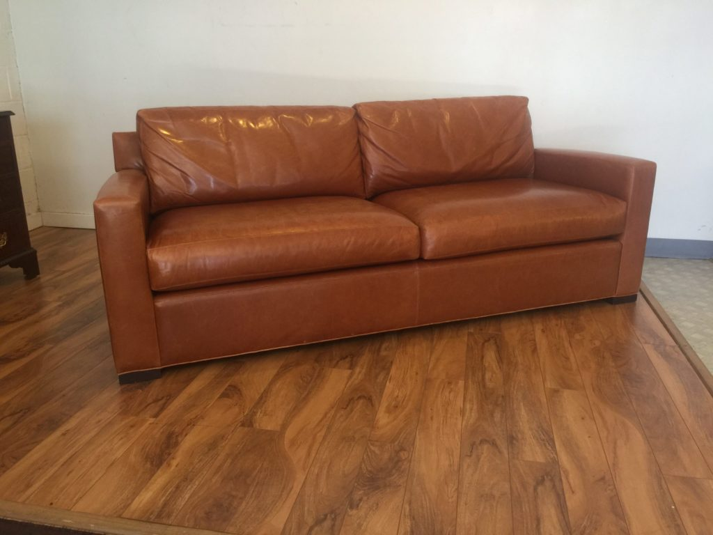 baker leather sofas deep comfortable sold furniture coach sofa modern to