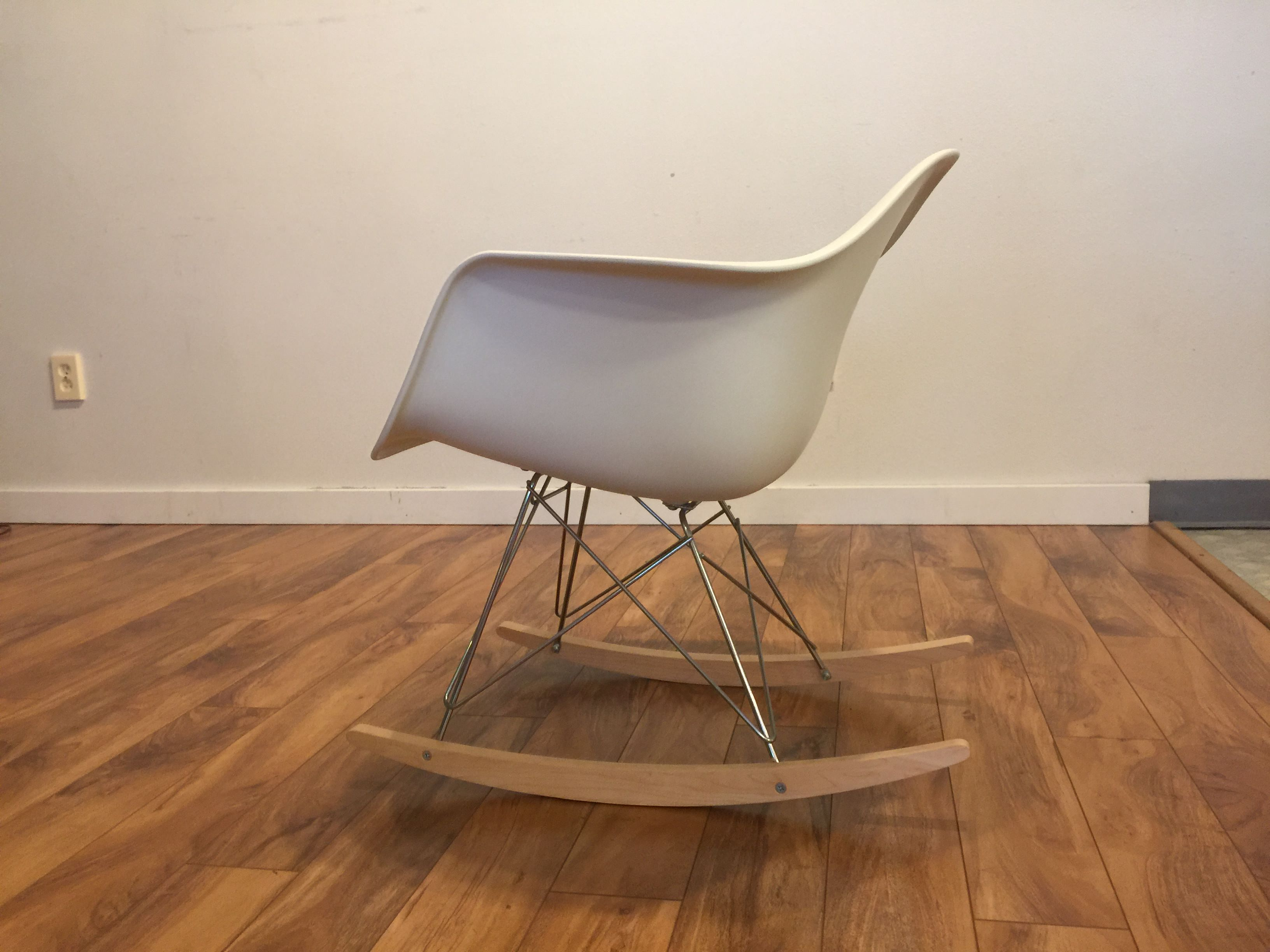 plastic rocking chair revolving cad block sold eames molded modern to vintage