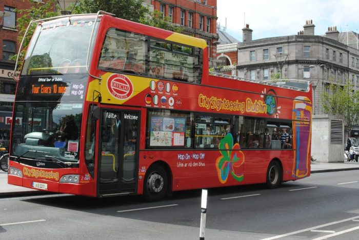 """The """"Hop On Hop Off"""" Red Bus, London"""