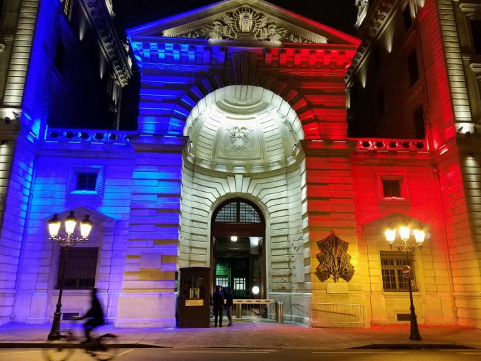 French Flag Building